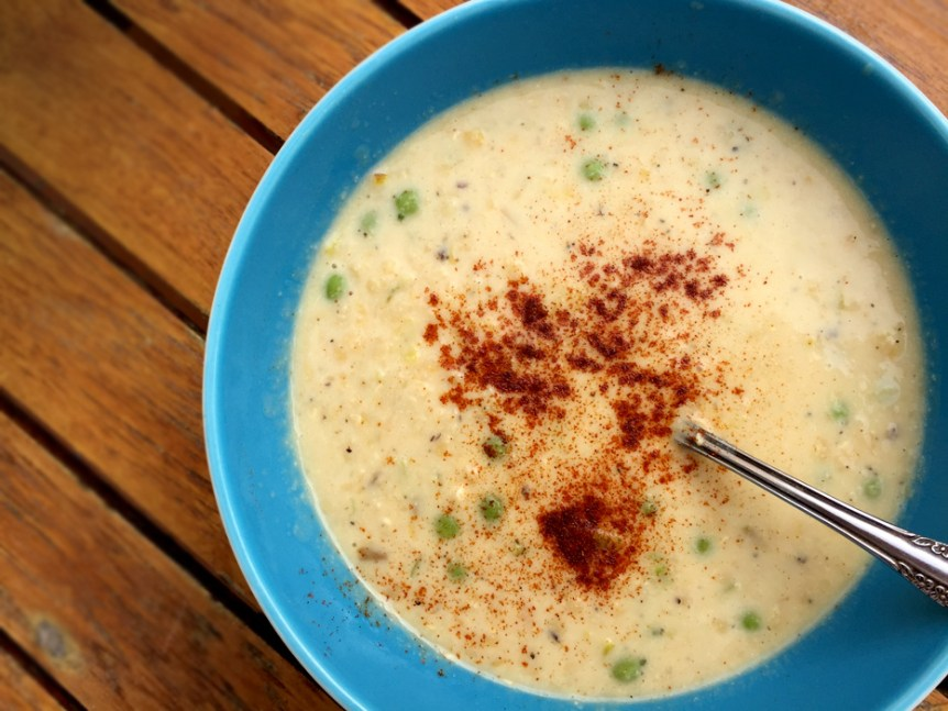 Red Lentil and leek soup