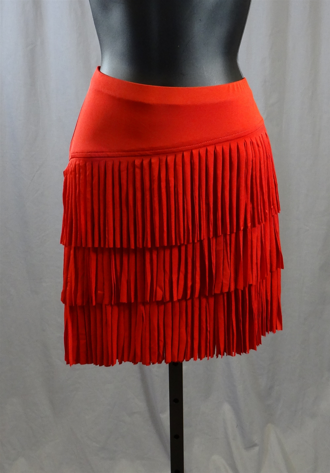 Cloth Fringe Latin Skirt with Builtin Under Pants