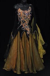 Elegant Black & Gold Ballroom Dress