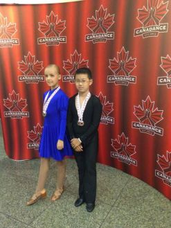 Jason and Alessia, Bronze and Silver medalists of Juvenile Bronze Latin category