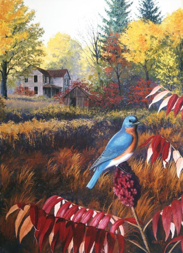 Dan Christ Wildlife Art Prints Canvas Deer Train Turkey - Kempton Pa