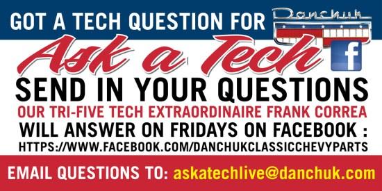 """Ask A Danchuk Tech"" on Facebook ""Live"""