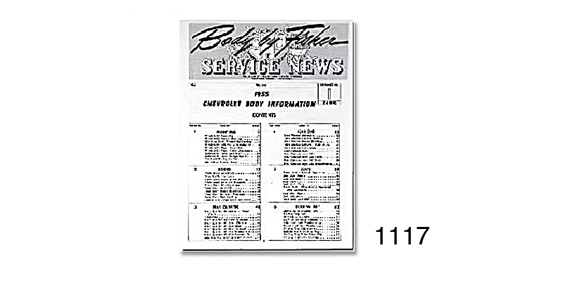 1956 Chevy Body By Fisher Service News Volume 15-6, Number
