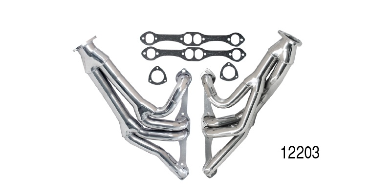 Dougs 1955-1957 Chevy Tri-Y Design Headers, Jet Hot Coated