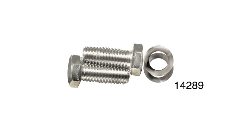 Chevy Stainless Water Neck Bolt Kit w/ Bowtie, Small Block