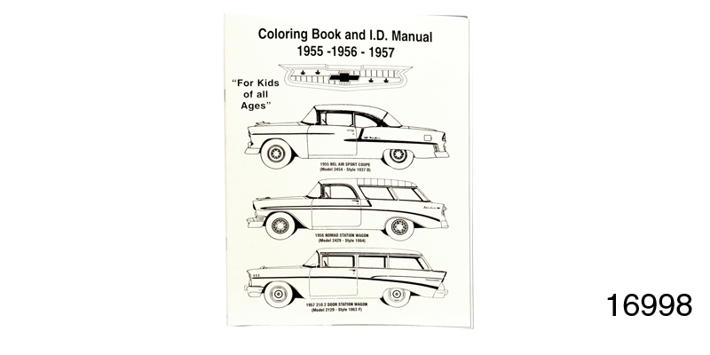 1955-1957 Chevy Coloring Book and Colors ID Manual
