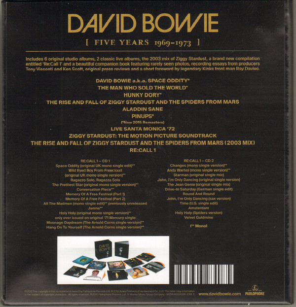 BOWIE DAVID - FIVE YEARS (1969-1973)