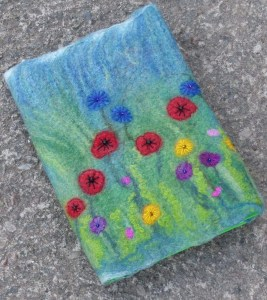 Wet felted picture, then needles felted and embroidered details