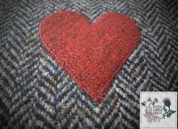 Harris Tweed coasters: Love