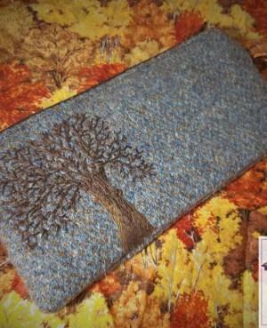 Harris Tweed purse: Autumn trees