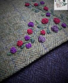 Harris tweed handbag: Roses