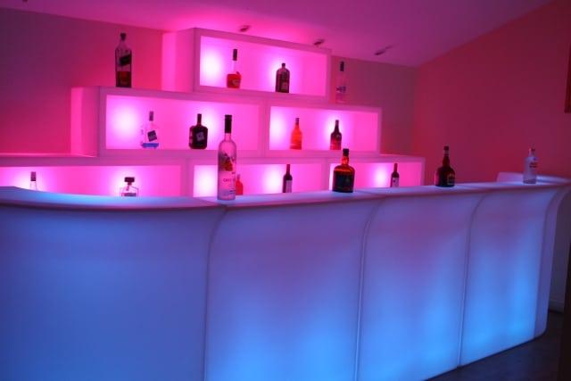 Led Mobile Bar Hire London  Illuminated Bar Hire  Event