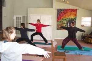 Yoga in the Great Room