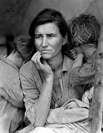 Image of Migrant Mother & children on http://dancingupsidedown.com