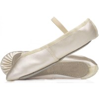 Satin Bridesmaid shoes in Ivory, Ivory ballet shoes ...