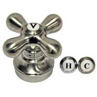 Universal Faucet Cross Handle in Brushed Nickel - Danco