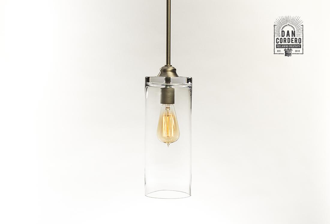 Glass Pendant Light Fixture
