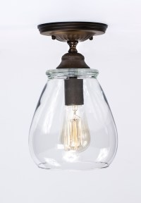 Flush Ceiling Mount - Edison Light Fixture - Oil Rubbed ...