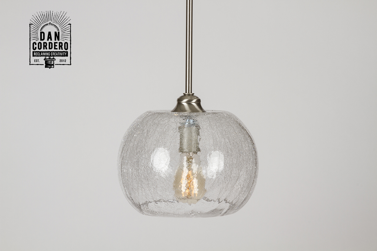 kitchen light fixtures flush mount upgrade crackle pendant fixture – bubble | dan cordero