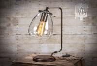 Glass Shade Edison Bulb Table Lamp - Bronze | Desk Lamp