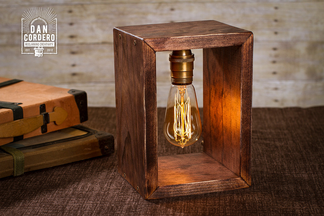 Shadow Box Edison Table Lamp, Desk Lamp, Home Accent