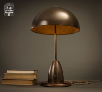 Aged Brass Dome Table Lamp | Desk Lamp | Industrial Lamp