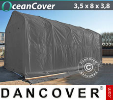 Boat shelter 3.5x8x3x3.8 m, Grey