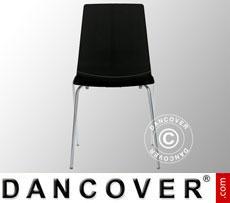 Chair, Lollipop, Glossy black, 12 pcs.