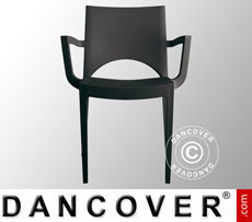 Chair with armrests, Paris, Anthracite, 6 pcs.