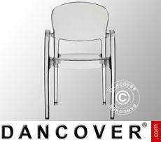 Chair with armrests, Joker, Transparent, 16 pcs.