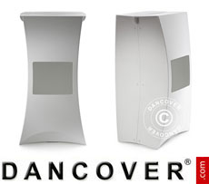 Event furniture: FLUX PILLAR, bar stool, white