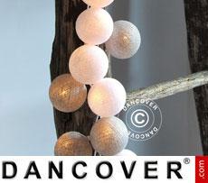Happylights, 35 balls, Silver coloured