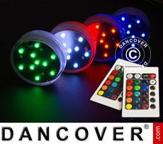LED light base (4 pcs.), DIA 7cm, multicoloured