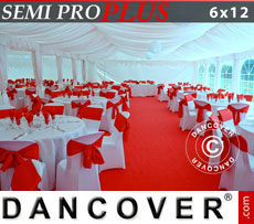 Marquee lining and leg curtain pack, white, for 6x12 m marquee Semi Pro Plus