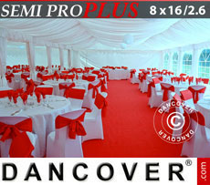 Marquee lining and leg curtain pack, white, for 8x16 m(2.6) marquee Semi Pro Plus
