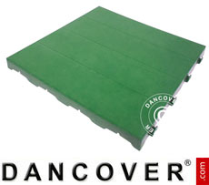 Plastic flooring Basic, Piastrella, Green, 10.08 m²