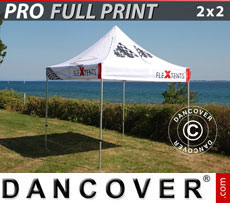 Printed Pop up gazebos FleXtents PRO with full digital print, 2x2 m