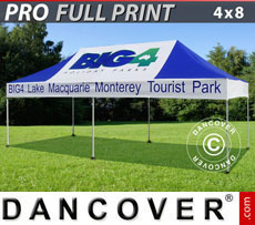 Pop up gazebo FleXtents PRO with full digital print, 4x8 m