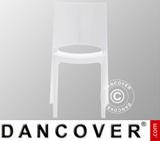 Chair, Sunshine, Glossy white, 6 pcs.
