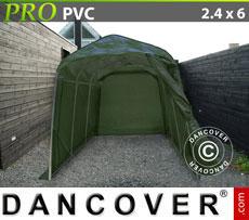 Portable Garage PRO 2.4x6x2.4 m PVC, Green