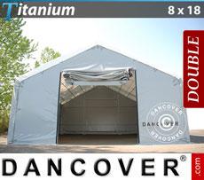 Storage shelter 8x18x3x5 Titanium