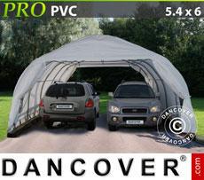 Portable double garage 5.4x6x2.9 m PVC
