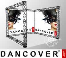 Truss display U-Shape 3x3m incl. banner with single-sided print