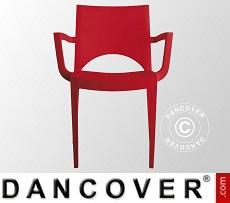 Chair with armrests, Paris, Red, 6 pcs.