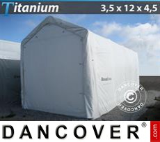Boat Shelter Titanium 3.5x12x3.5x4.5 m, White
