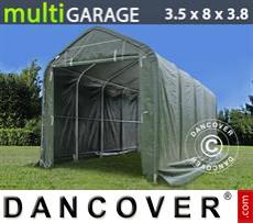 Storage shelter multiGarage 3.5x8x3x3.8 m, Green