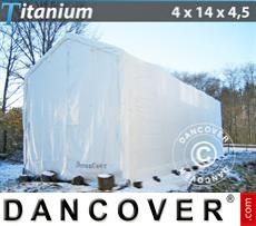 Boat Shelter Titanium 4x14x3.5x4.5 m, White