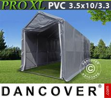 Storage shelter PRO 3,5x10x3,3x3,94 m, PVC, Grey