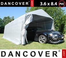 Portable Garage PRO 3.6x8.4x2.68 m PVC, Grey