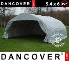 Portable double garage 5.4x6x2.9 m PVC, Grey